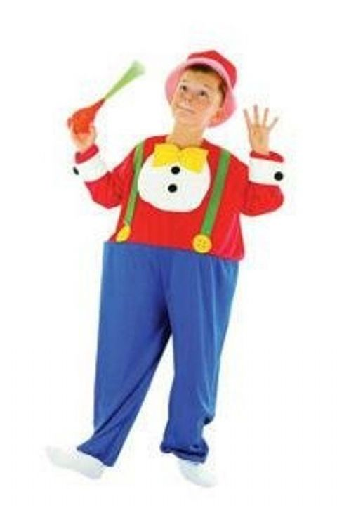 Childrens Hooped Clown Fancy Dress Costume (Age 6 - 8)